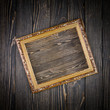 frame on old wood background
