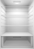 Inside view of an empty Modern Fridge