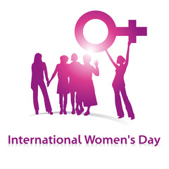International Woman's Day,pink,Shilouette Women