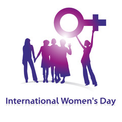 International Women's Day,Pink,Shilouette,Vektor,free