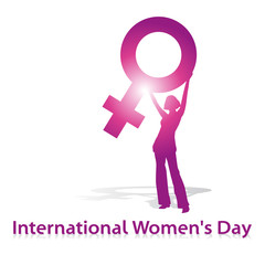 International Women's Day,shilouette,pink,venus,vektor