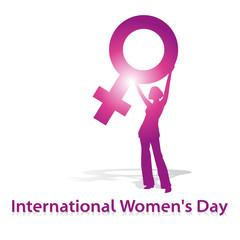 International Women's Day,shilouette,pink,venus,vektor