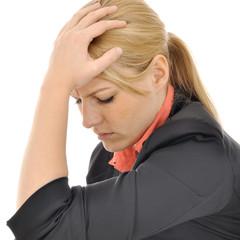 Frau erleidet Burnout