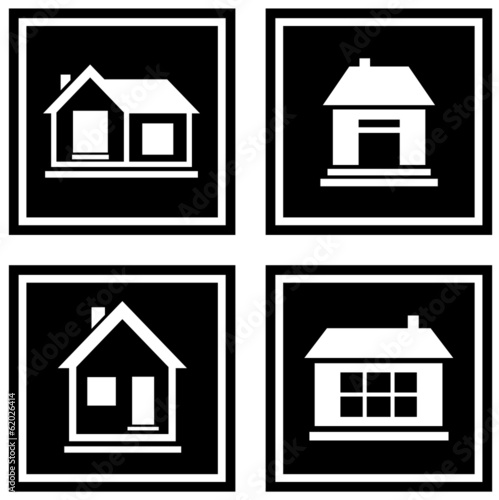 set black house icons