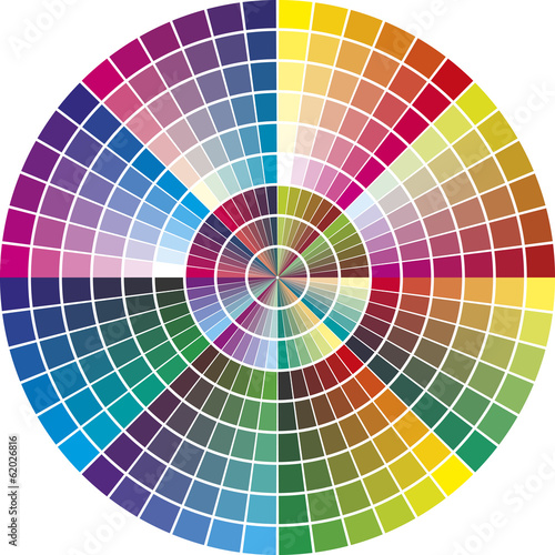 Vector Color Chart for marketing and advertising