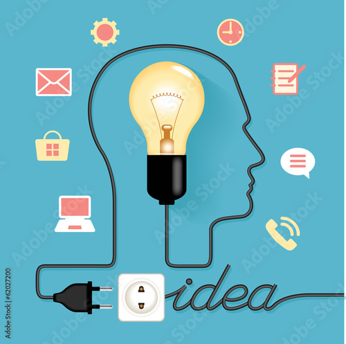 abstract infographic creative light bulb idea