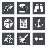 Icons for Web Design and Mobile Applications set 4