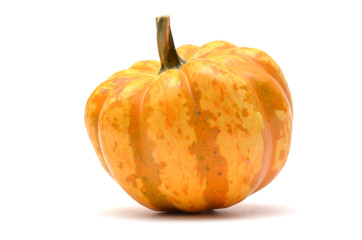 yellow Japan pumpkinwith on white background