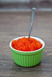 Spoon in a red caviar