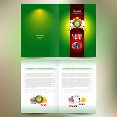 booklet catalog brochure folder casino european roulette