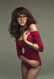 Cute woman wearing glasses
