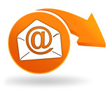courrier électronique sur bouton orange