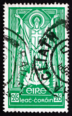 Postage stamp Ireland 1943 St. Patrick and Paschal Fire