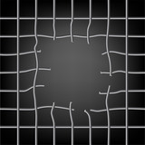 Broken grid with a hole
