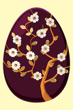 Egg with tree violet