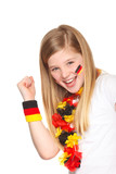 german soccer fan smiling