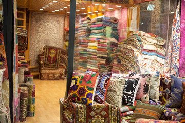 carpet stand at oriental market