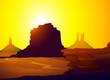 Sunset on Monument Valley (Arizona)-Vector