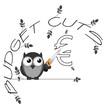 Monochrome budget cuts Euro twig text