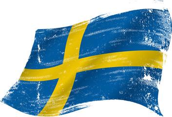 Swedish grunge flag