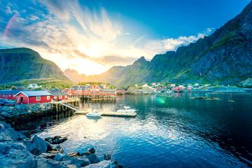 Moskenes, Dorf auf den Lofoten