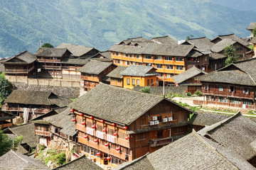 Chinese village rooftops