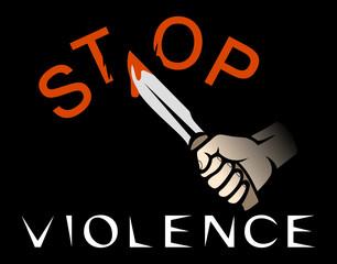 Stop violence banner