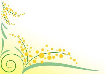 Sfondo mimose stilizzate