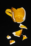 Broken Orange Coffe Cup