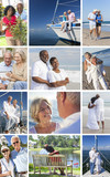 Interracial Senior Couples People Retirement Lifestyle