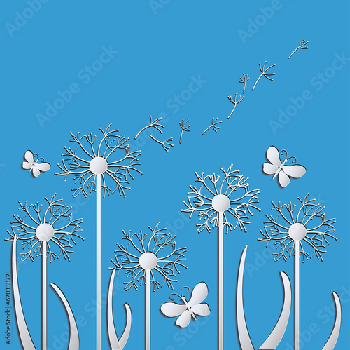 Fototapeta dandelions vector