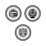 radio badges