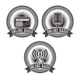 online radio badges