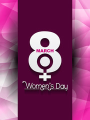 Creative women's day background. vector illustration