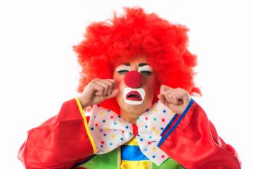 Weinender Clown