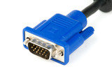 Photo of a male VGA cable connector
