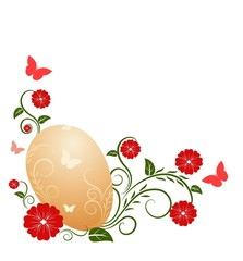 Easter background with patterns
