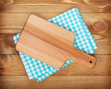 Cutting board over kitchen towel