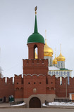 Main tower and entrance of Kremlin. Tula, Russia