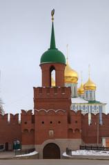 Main tower and entrance of Kremlin. Tula, Russia