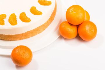Torte - Käsesahne mit Mandarinen