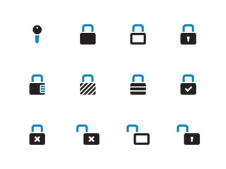 Locks duotone icons on white background.