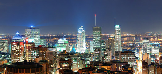 Montreal at dusk panorama