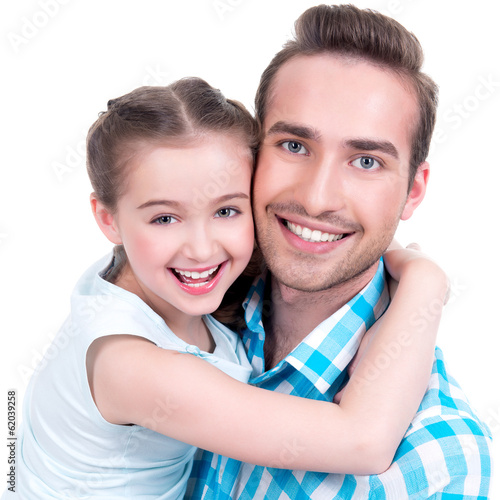 happy  father with young daughter