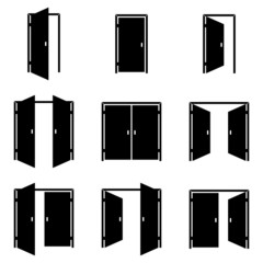 Set of different door icons