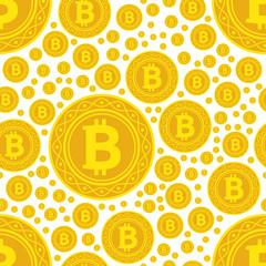bitcoin coins seamless pattern