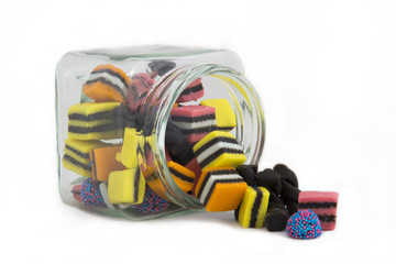 Licorice Allsorts in a Fallen Jar