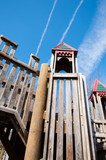 children's park wooden play structure