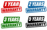 Set of warranty stamps