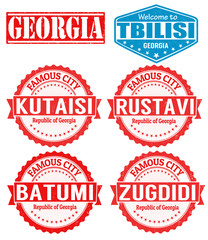 Georgia cities stamps